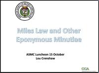 Miles Law